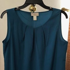 LOFT Teal Sleeveless Blouse